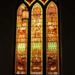 Photograph of one of the church's stained glass windows